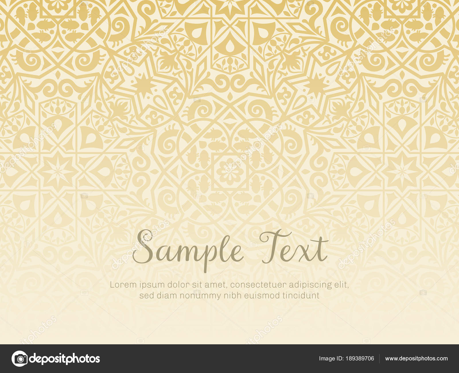 organic arabesque background design golden texture stock vector