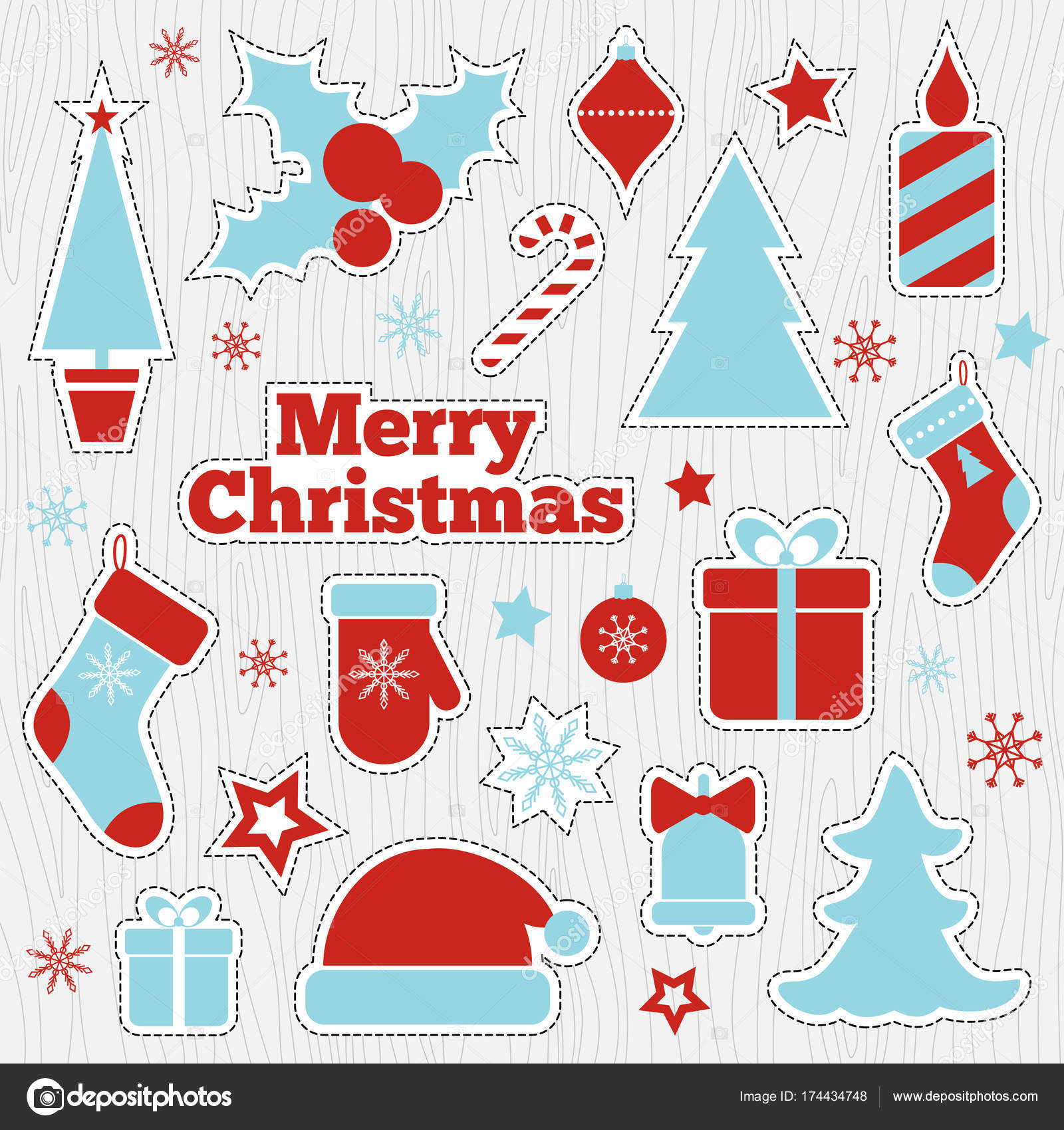 photo relating to Printable Patches named Xmas printable stickers, type patches Inventory Vector