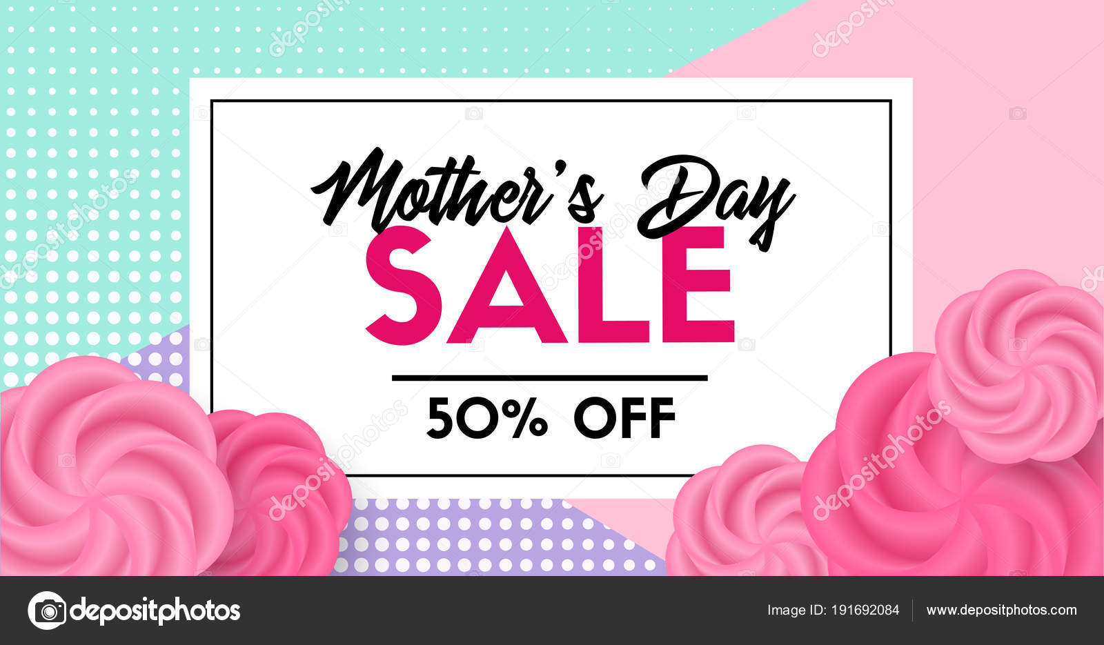 Mütter Tag Verkauf Promo Kartenvorlage. Facebook Link Größe ...