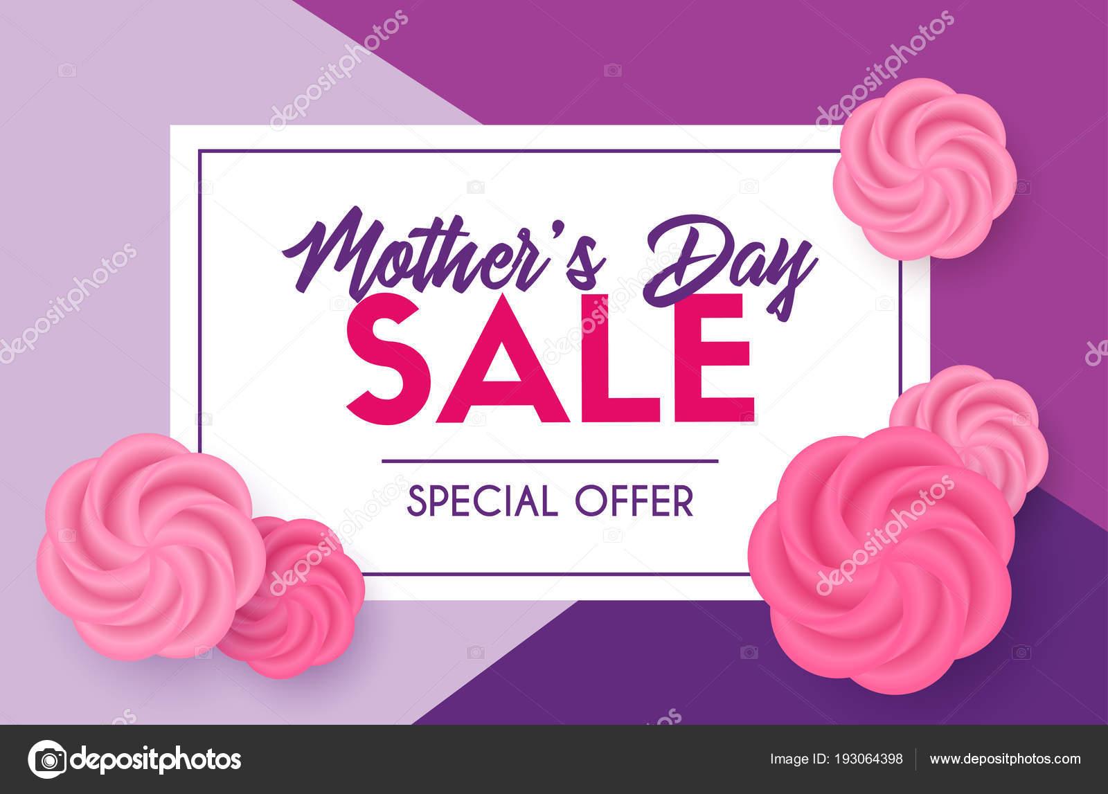 Mütter Tag Verkauf Rabatt Vorlage. Vektor-Karte — Stockvektor ...