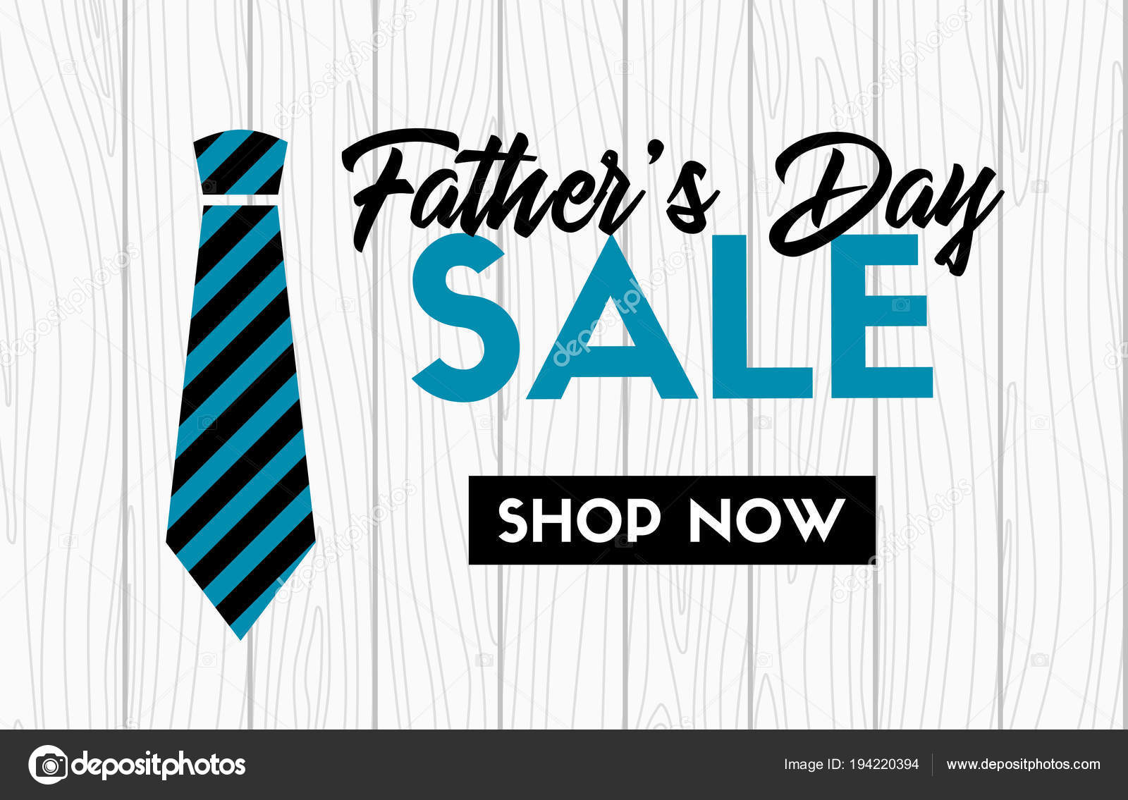 fathers day sale vector banner with necktie web promotional