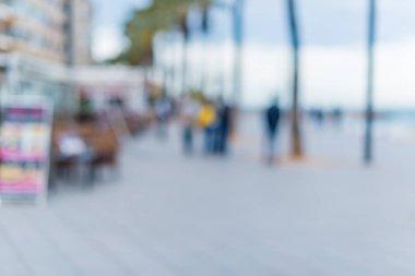 Defocused and blurred background, outdoor stock vector