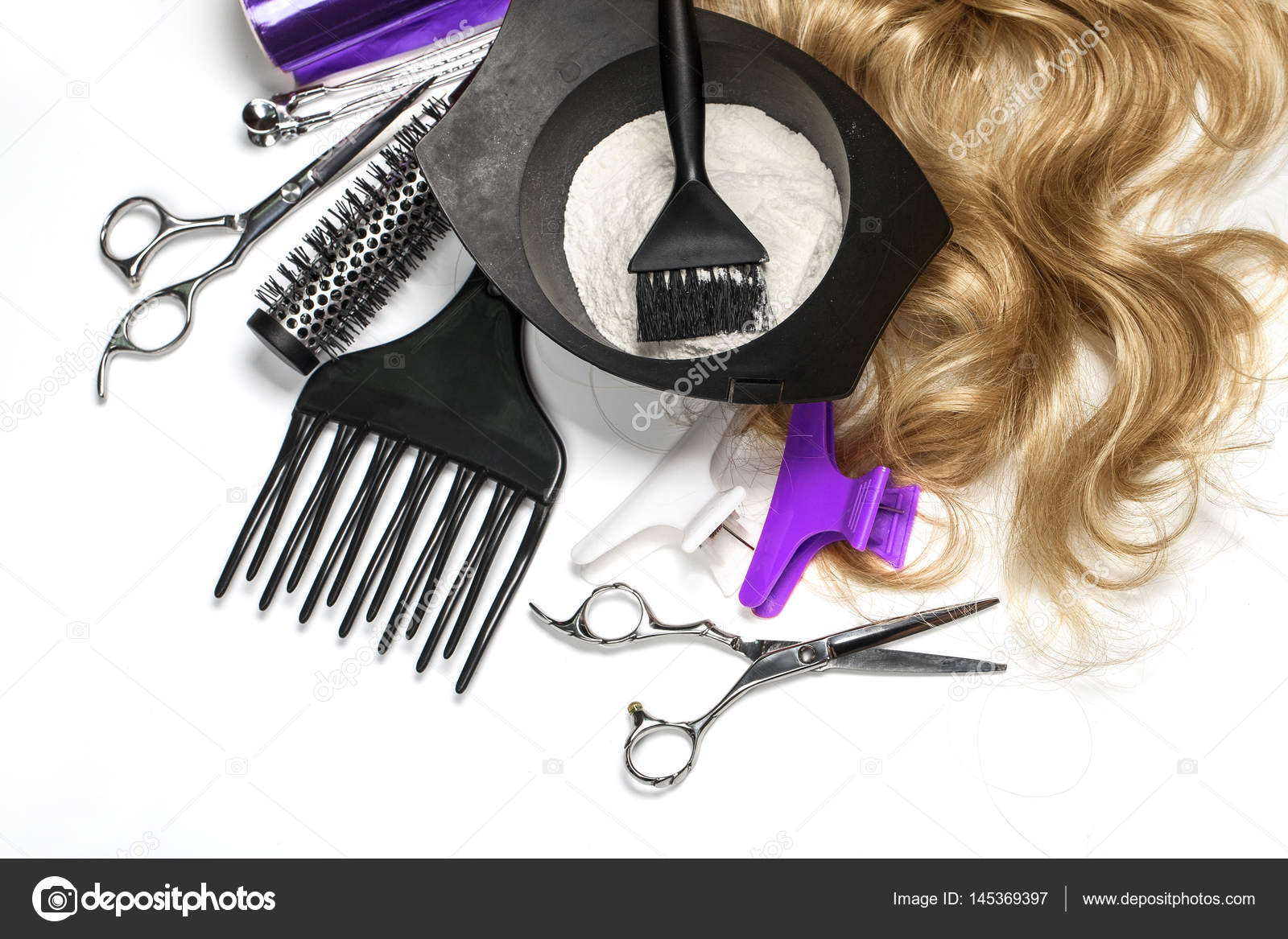 Hairdresser Accessories for coloring hair — Stock Photo ...
