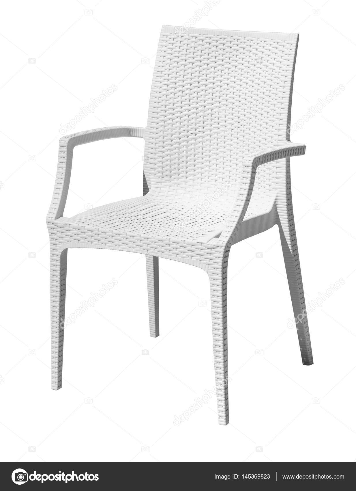 sedia in plastica bianca — Foto Stock © kornienkoalex #145369823