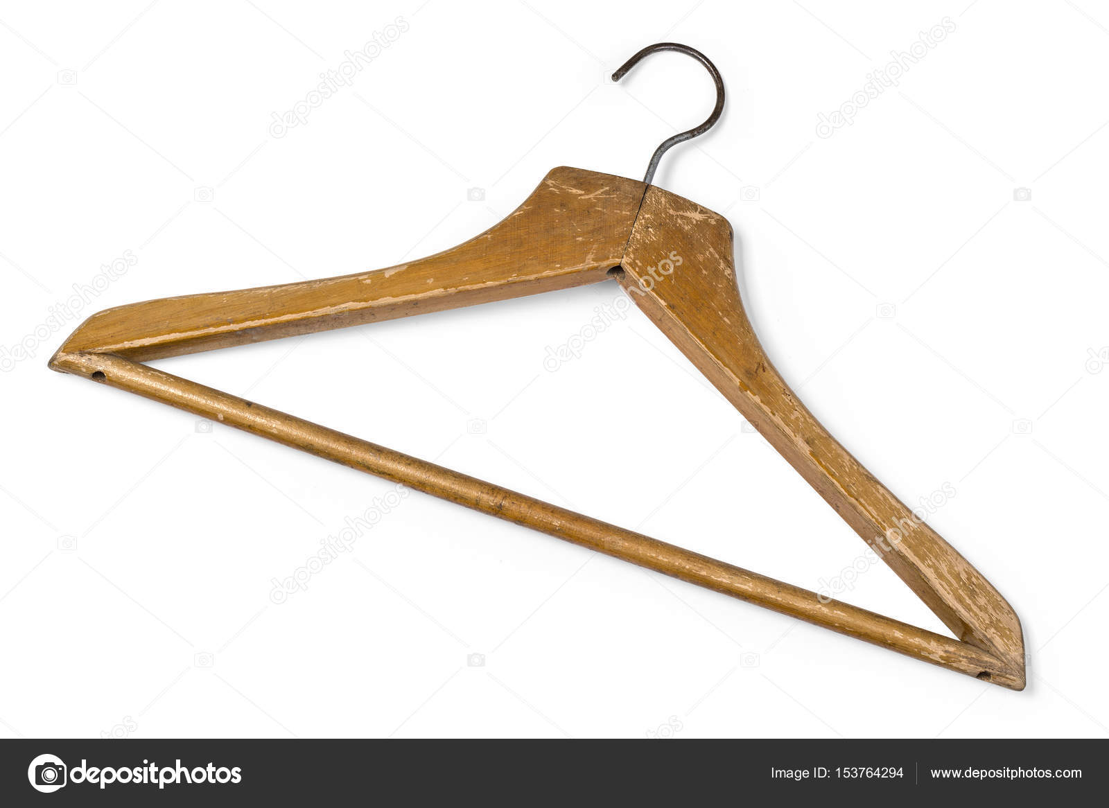 Old Wooden Coat Hanger Stock Photo Kornienkoalex 153764294