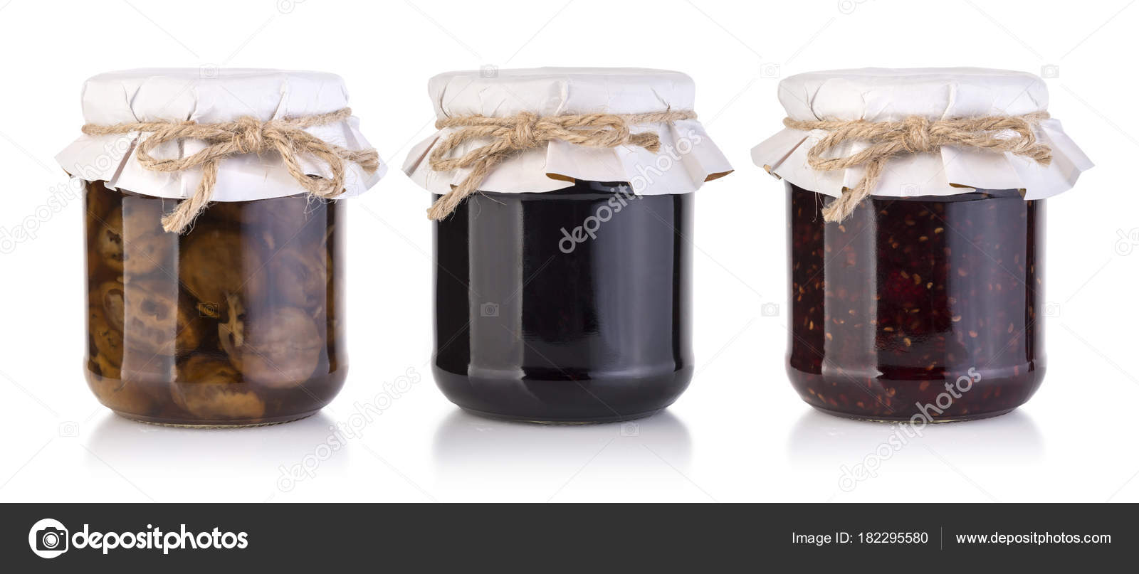 Verschiedenen Marmeladenglaser Stockfoto C Kornienkoalex 182295580