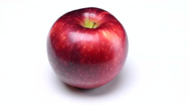 Shiny Red Apple on White