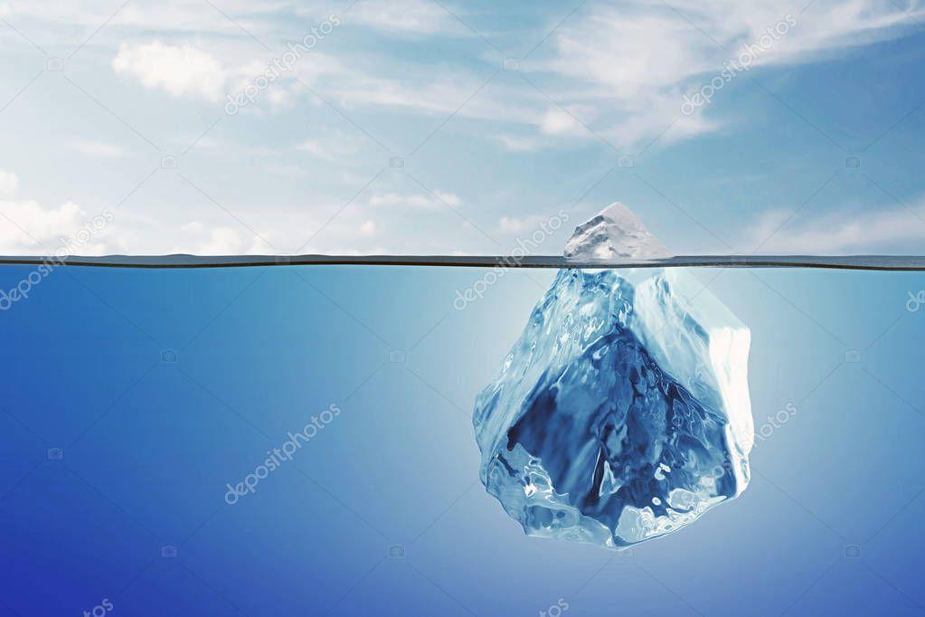 iceberg under ocean surface