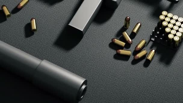 Set automatischer 9mm Maschinengewehre
