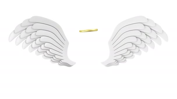4 k animace létání Angel White Wings