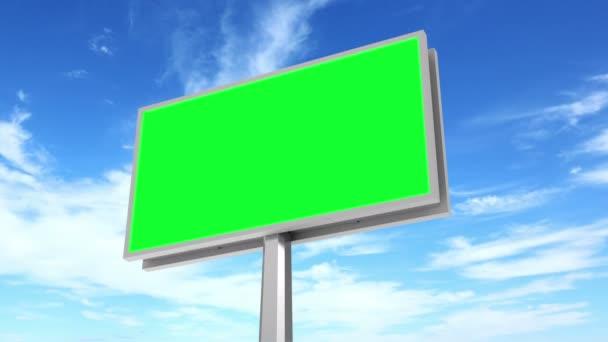 Billboard s zelená obrazovka