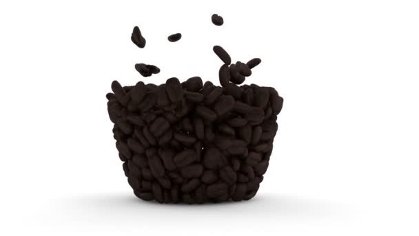 Coffee Cup made from coffee beans.