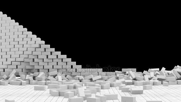 Animation of Broken Brick Wall