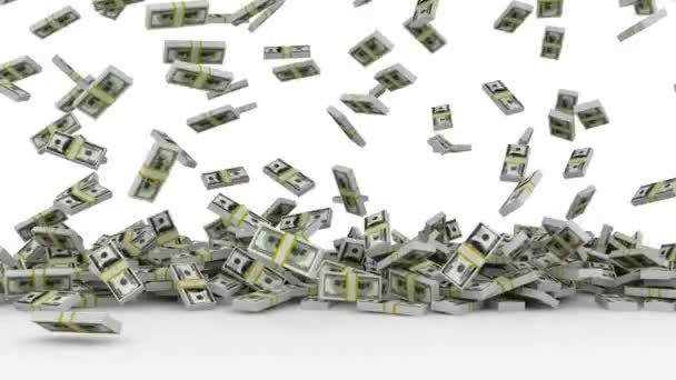 Animace z klesající dolarové bankovky
