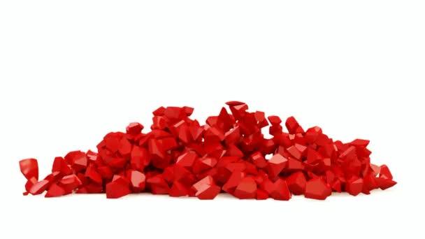 Animace z červené srdce