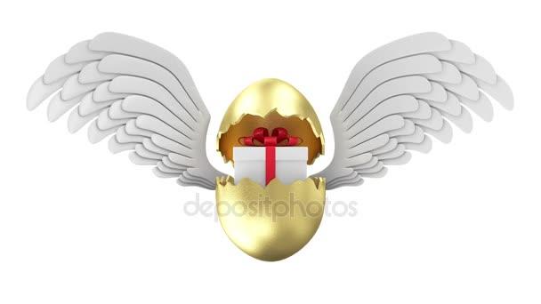 Broken Golden Easter Egg