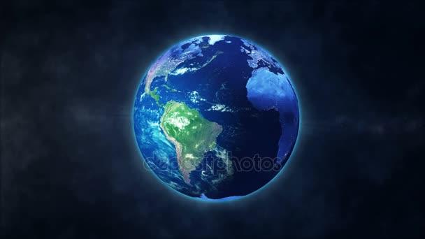 Animace rotace země