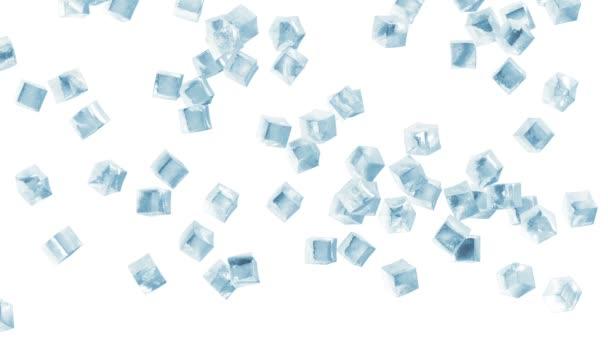 Animace z padajících kostek ledu