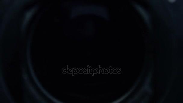 Nahaufnahme der Zoom Kamera-Objektiv