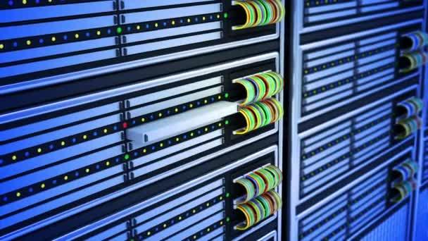 Moderní servery v datovém centru.