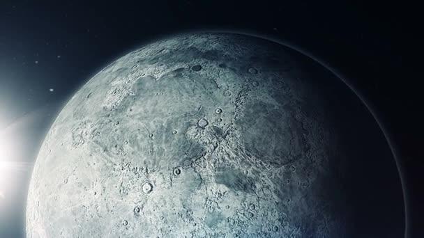 Animace z měsíce na planetě Zemi ve vesmíru
