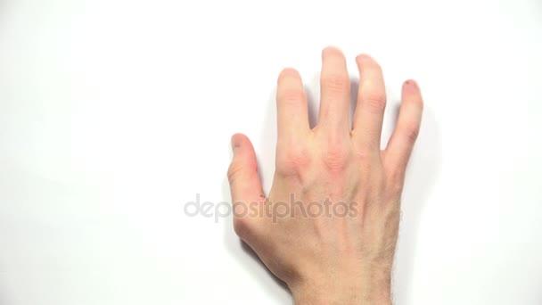 A férfi kezét vár felülnézet