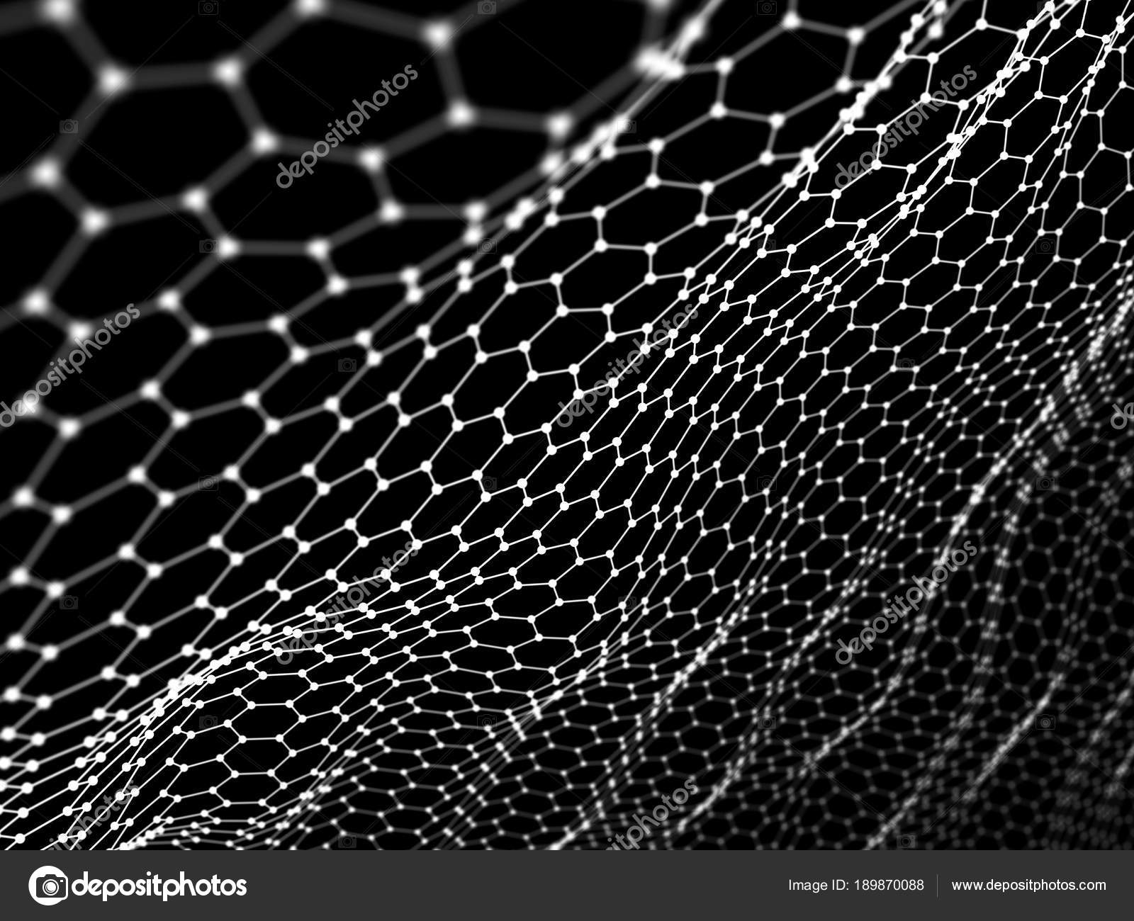 Abstract From Hexagon Wire Surface Background Technology Concept Noise Grid Structure Photo By Anastad