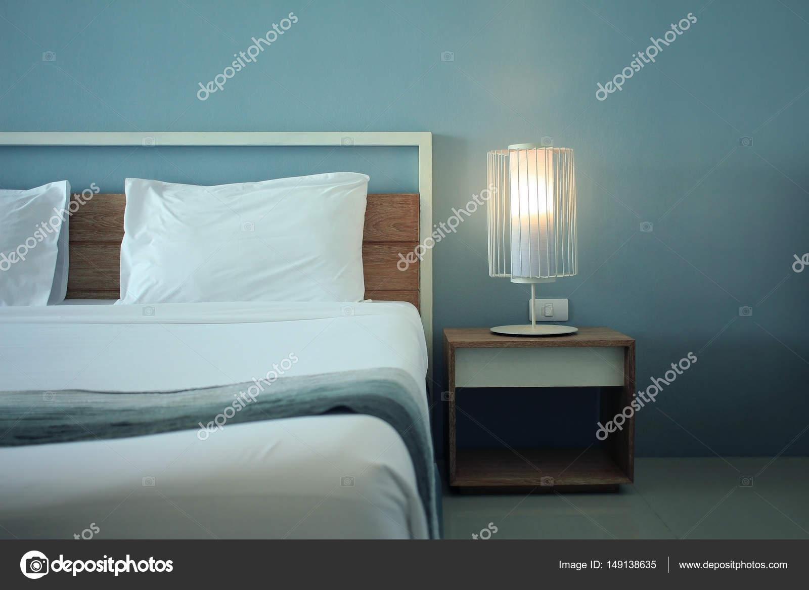 Design moderno camera da letto con arredi — Foto Stock ...
