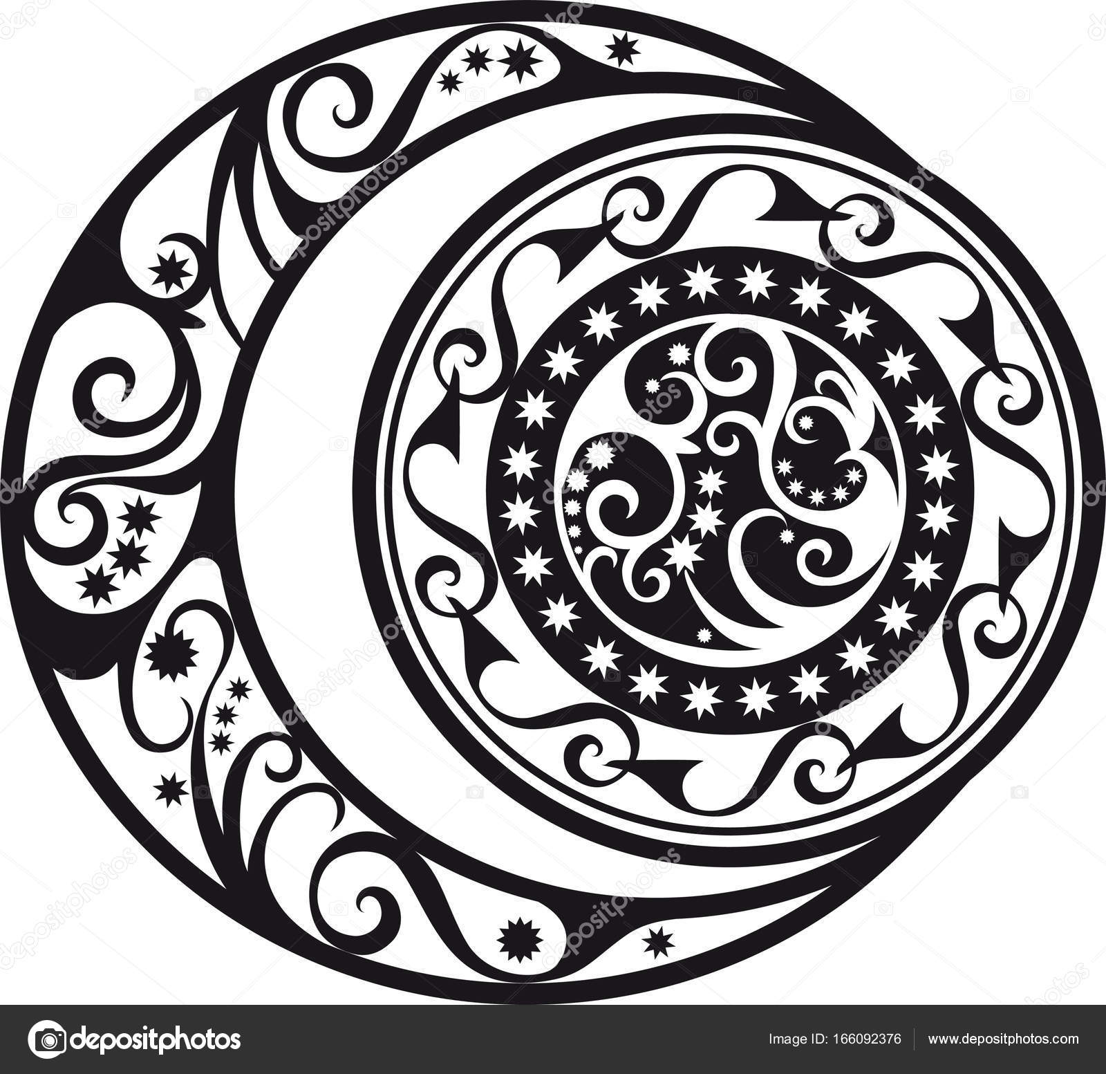 Abstract pattern crescent moon and sun symbol stock vector abstract pattern crescent moon and sun symbol stock vector biocorpaavc Gallery