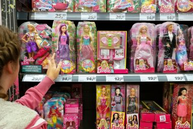 Barbie and Ken in a toyshop