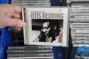 THE NETHERLANDS - MARCH 2018: CD record of the American singer, songwriter, record producer, arranger, and talent scout: Otis Redding, in a second hand store.