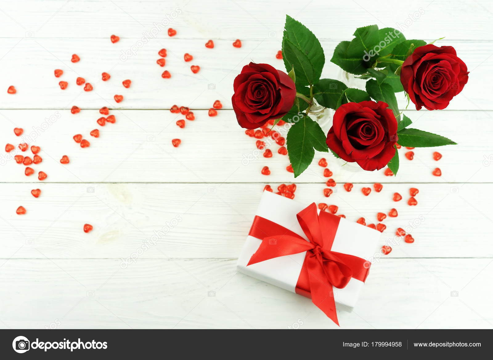 Valentine day bouquet beautiful red roses vase white wooden valentine day bouquet beautiful red roses vase white wooden background stock photo izmirmasajfo