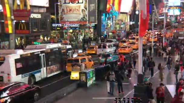 New York City, Amerikai Egyesült Államok - okt 2: Times Square Időközű, jellegét meghatározta-val taxik, üzletek, animált Led jelek, egy szimbólum, a New York City és az Egyesült Államok, október 2, 2016-ban, New York