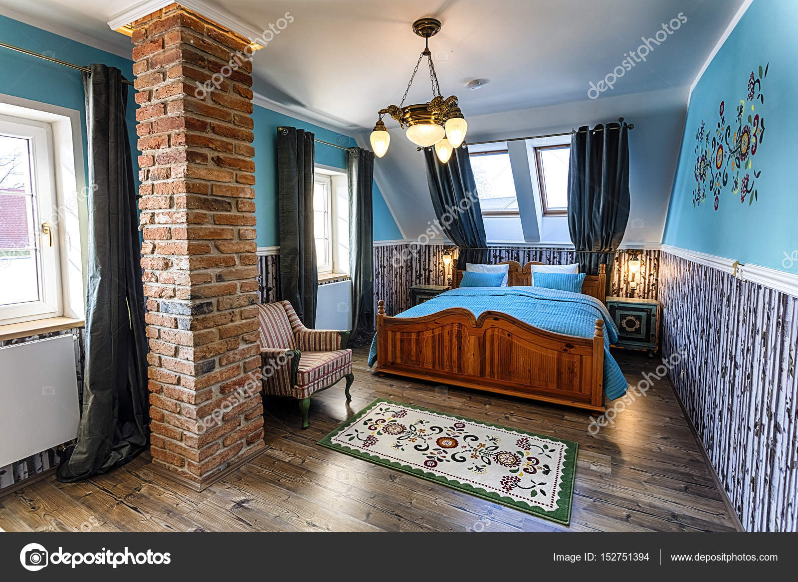 Luxe Slaapkamer Interieur : Luxe hotel slaapkamer interieur u stockfoto kropic