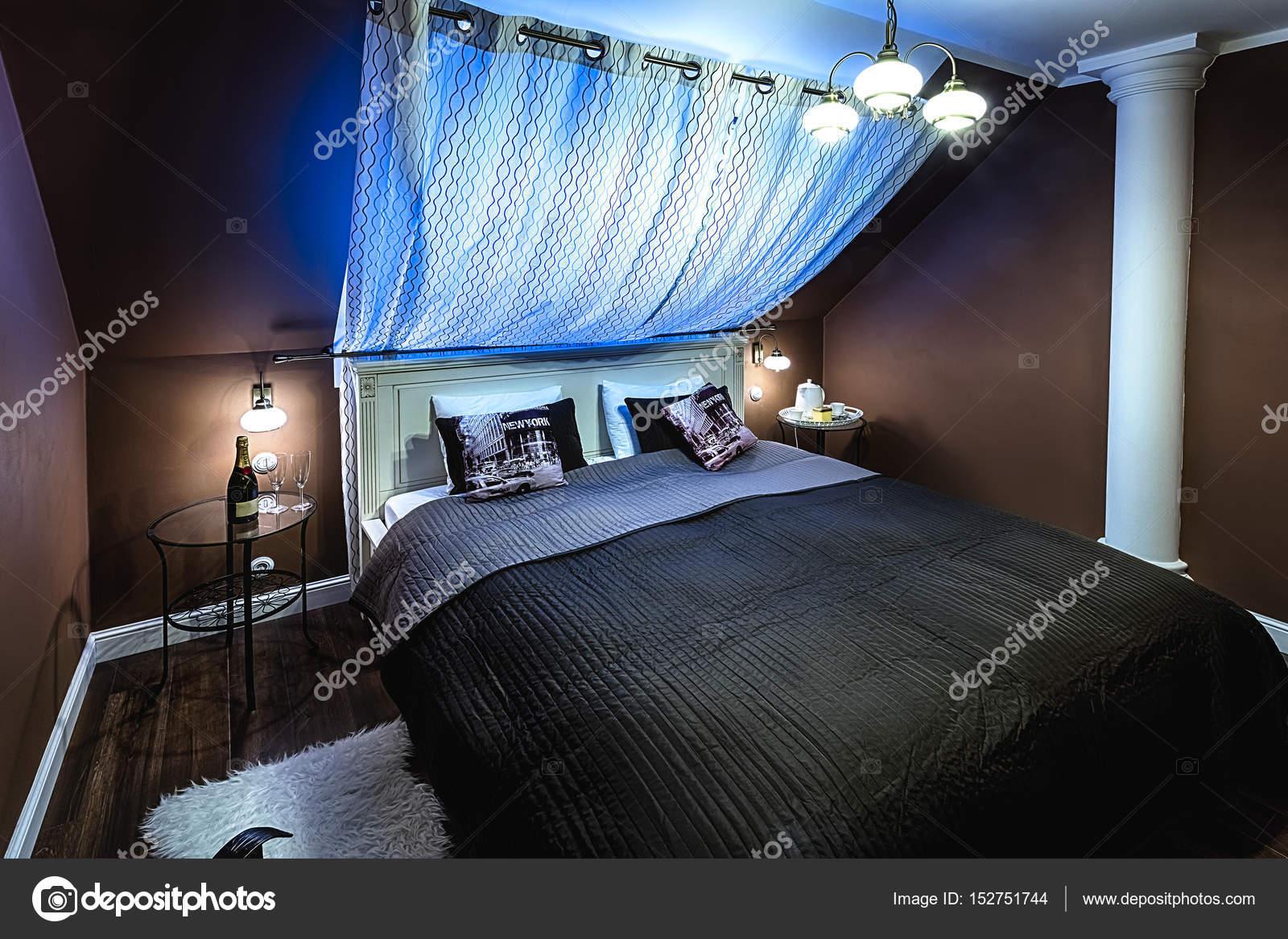 Slaapkamer Amerikaanse Stijl : Luxe hotel slaapkamer interieur u2014 stockfoto © kropic #152751744