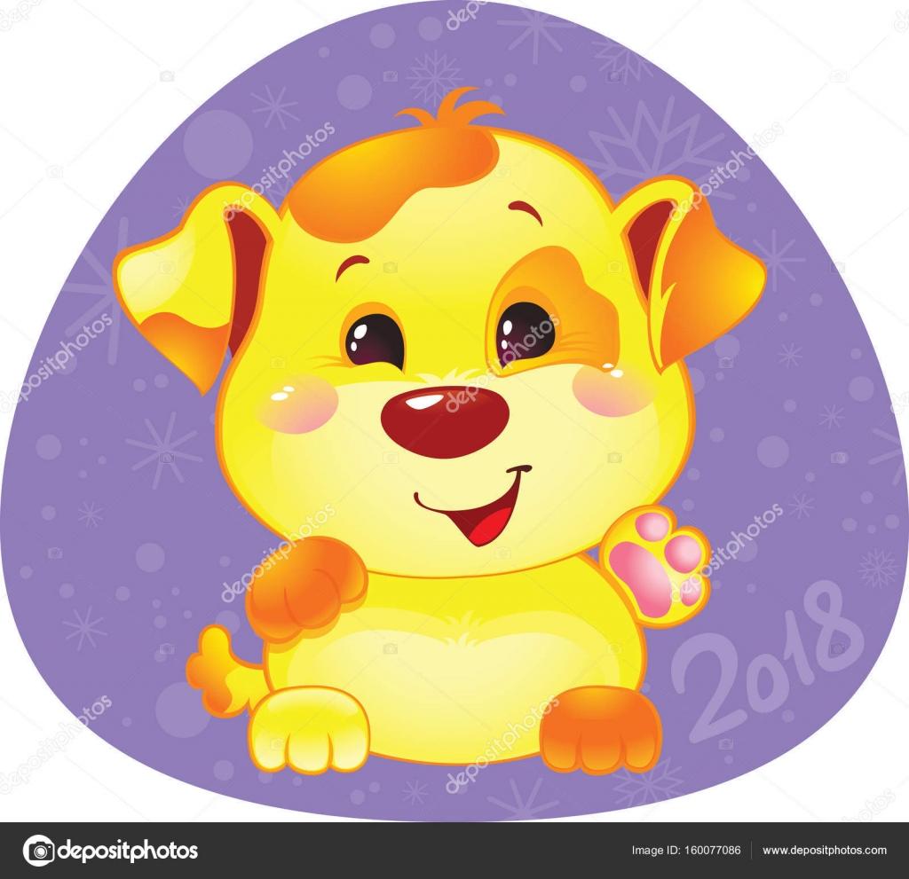 Cute symbol of chinese horoscope yellow dog stock vector cute symbol of chinese horoscope yellow dog stock vector biocorpaavc