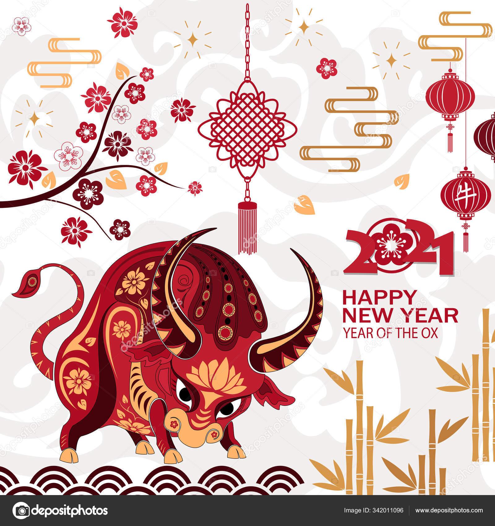 chinese new year 2021 background chinese translation ox stock vector c bezvetrenniy 342011096 https depositphotos com 342011096 stock illustration chinese new year 2021 background html
