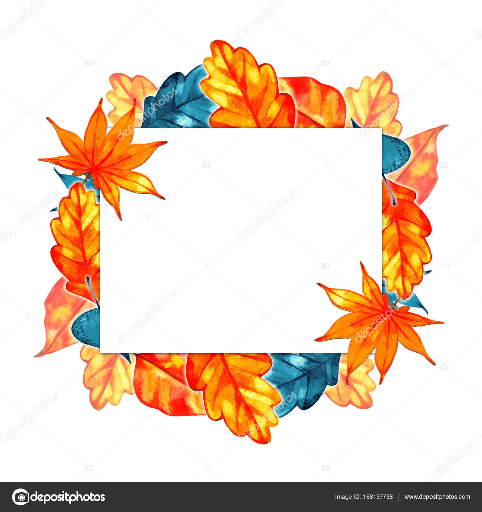 Autumn Background Border. Abstract Artistic Fall Frame