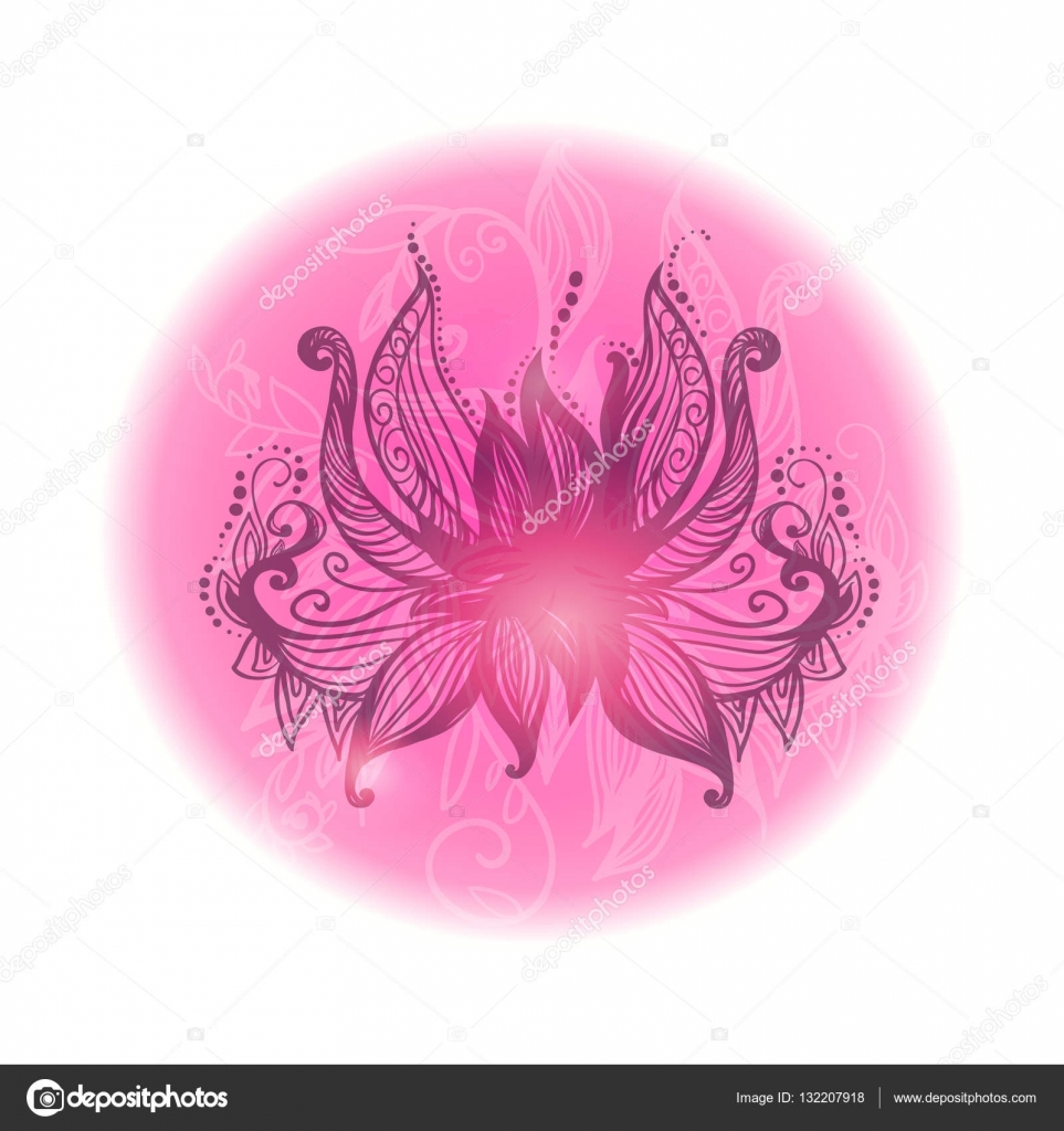 Open stylized lotus flower decorative round vector illustration open stylized lotus flower decorative round vector illustration stock vector izmirmasajfo
