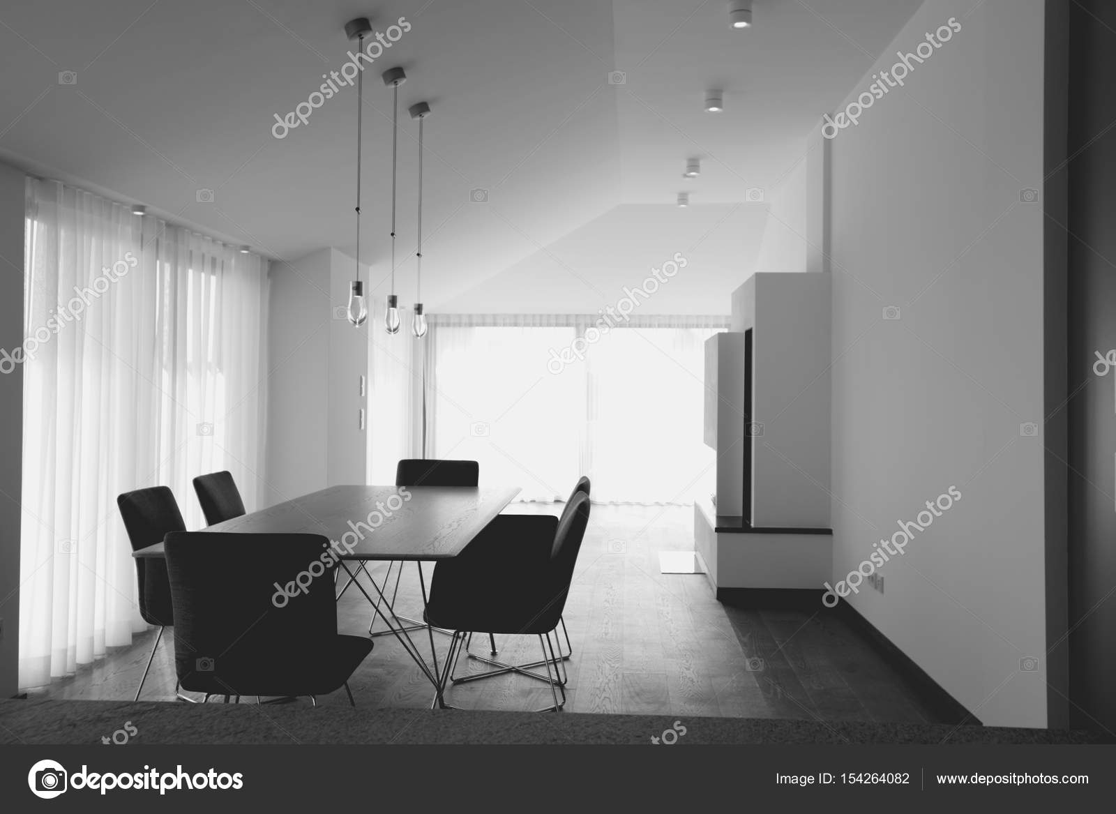 Salle de réunion dans le bureau moderne concept d intérieur noir