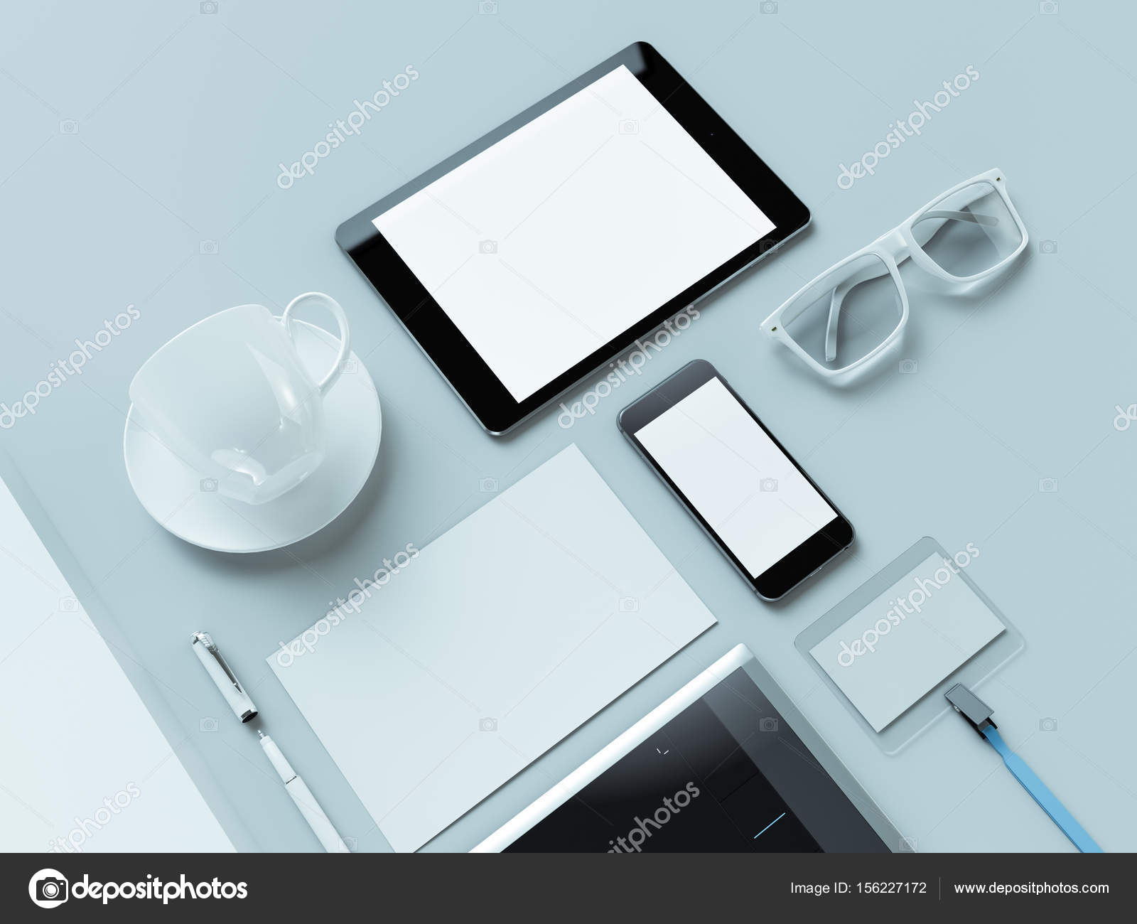 designer office desk isolated objects top view. Modern Office Workplace With Metallic Laptop. Isolated On White Background, Concept. \u2014 Photo By SectoR_2010 Designer Desk Objects Top View
