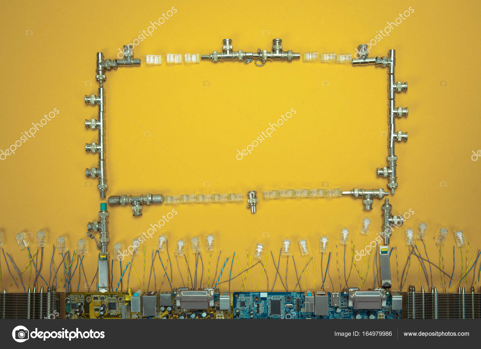 Electronic Circuit Chip Board Background Stock Photo Sector 2010 Construction