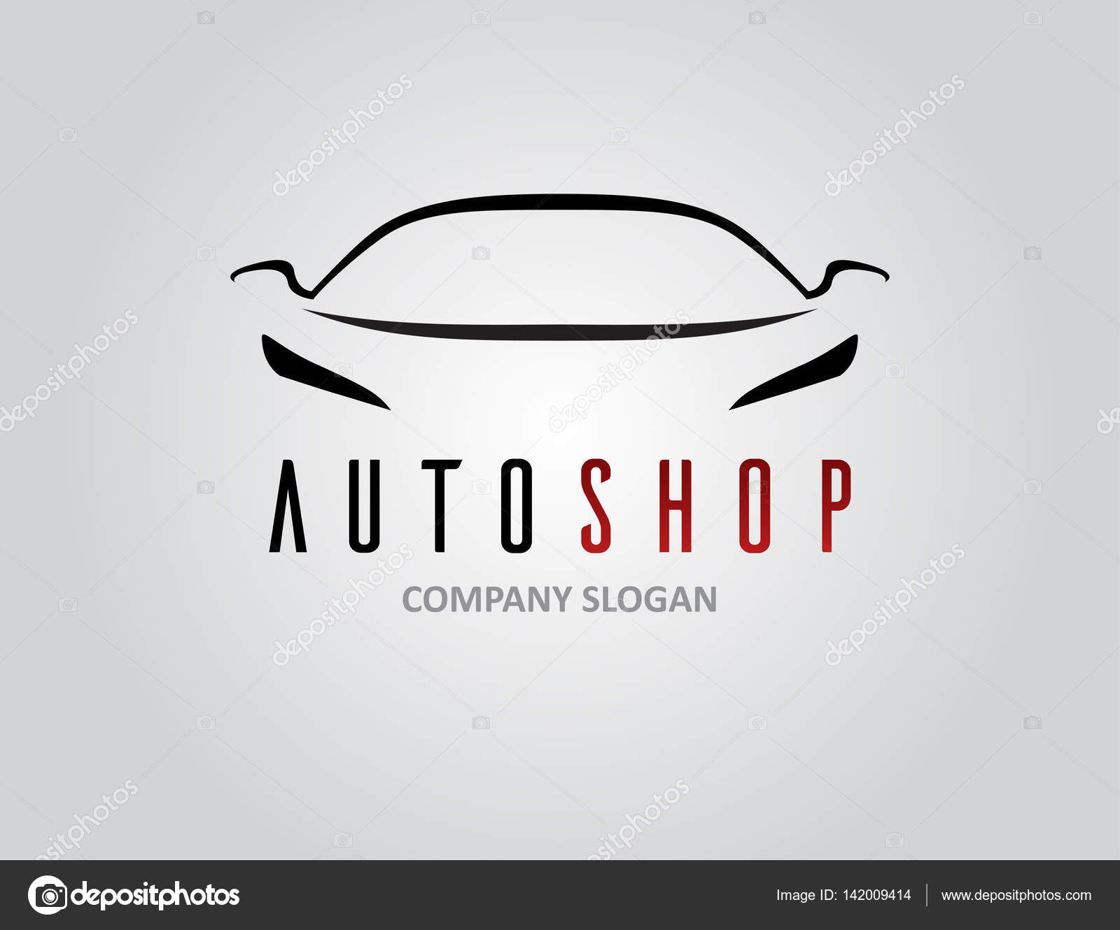 Diseño de logotipo de coche auto tienda con silueta de vehículo ...