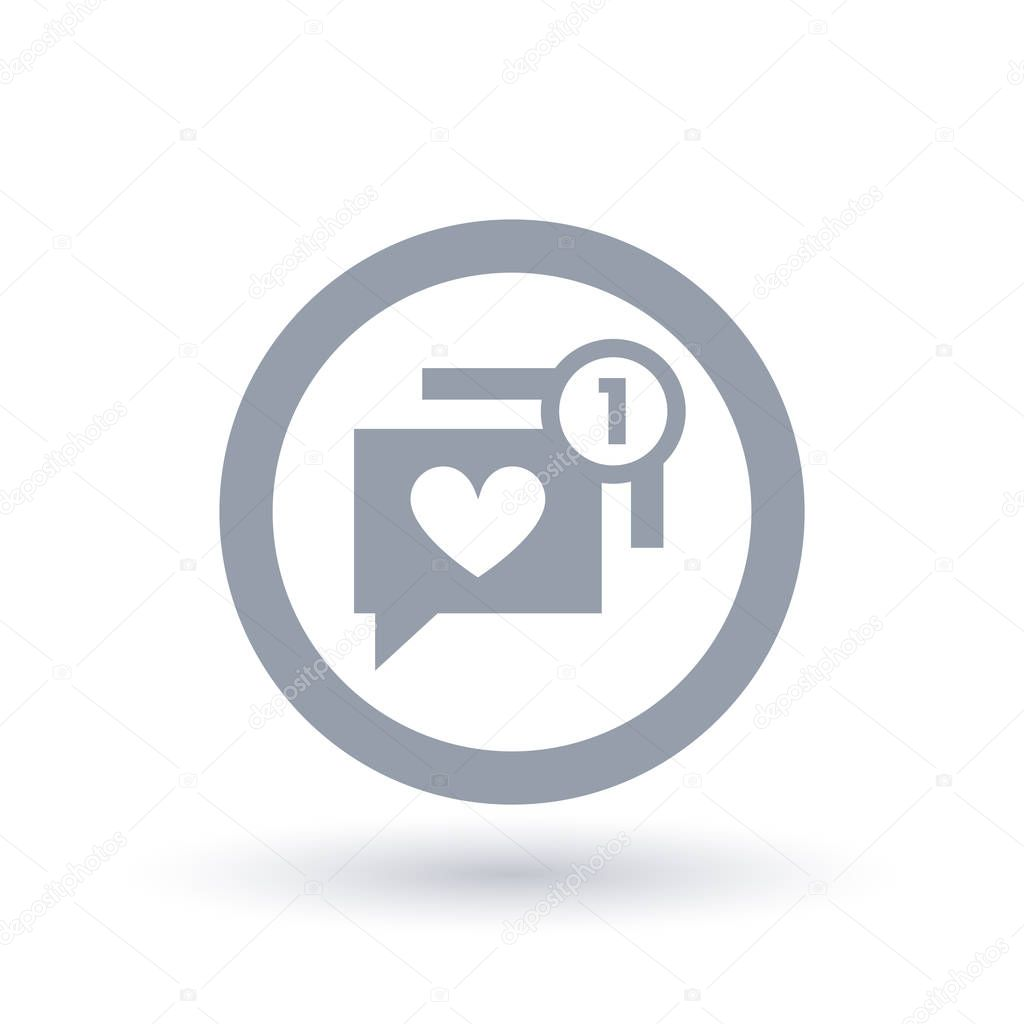 Simboli di notifica app dating