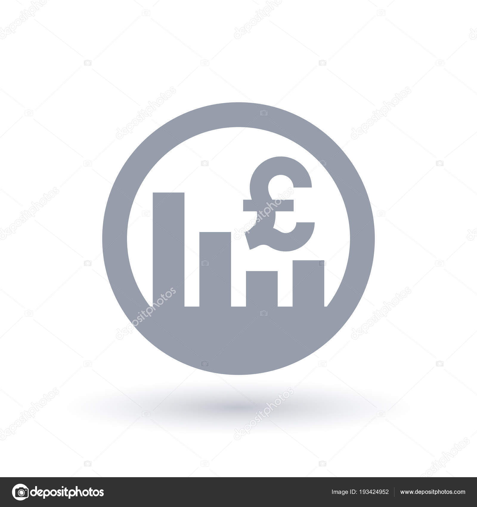British Pound Stock Market Icon Great Britain Currency Exchange