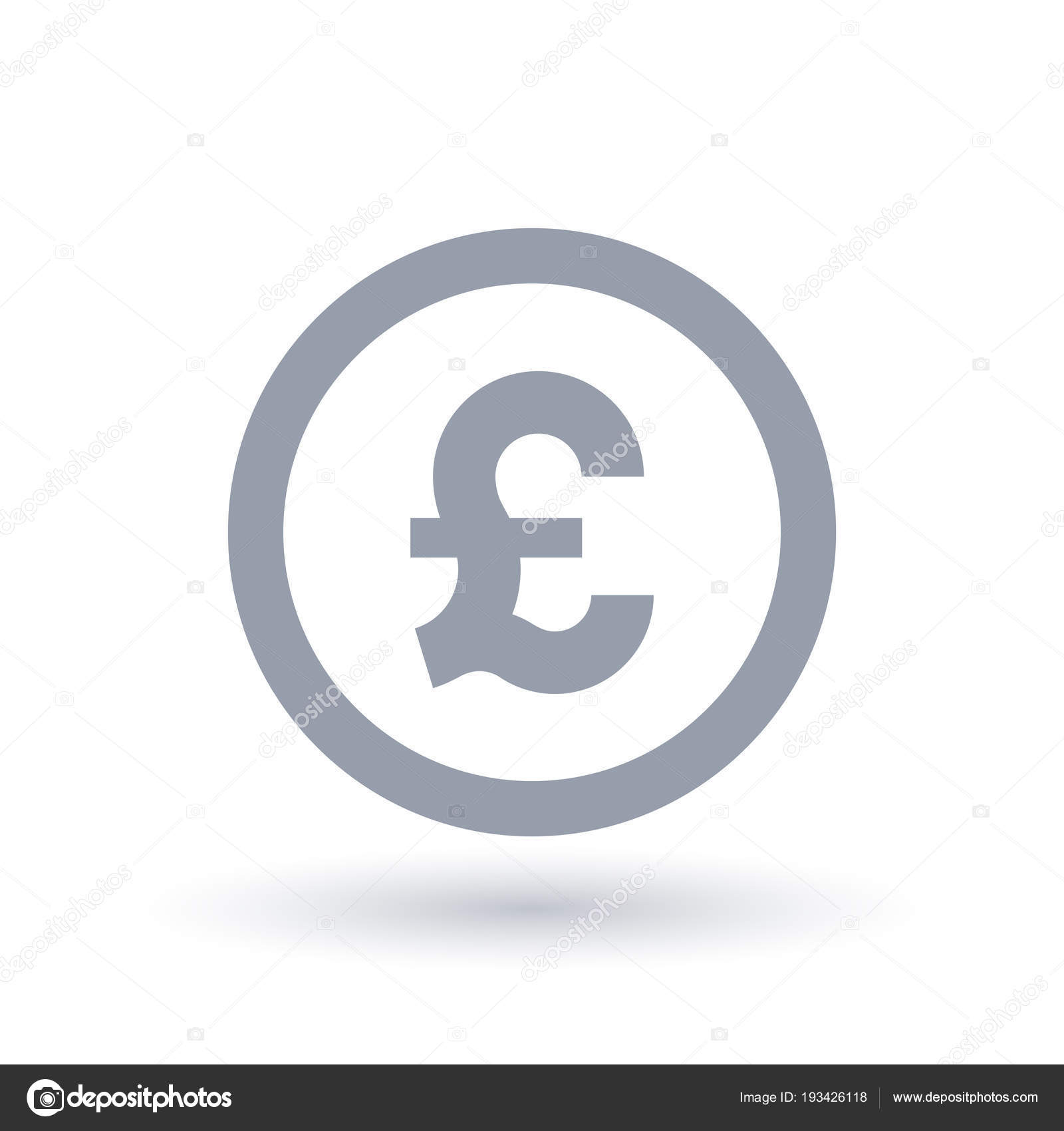 Great British Pound Symbol Britian Currency Symbol Stock Vector