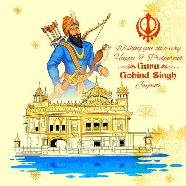 Happy Guru Gobind Singh Jayanti festival for Sikh celebration background