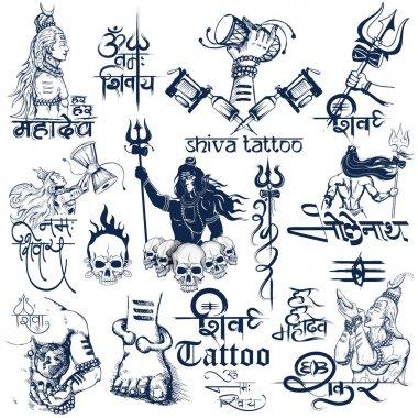 Tattoo art design of Lord Shiva collection