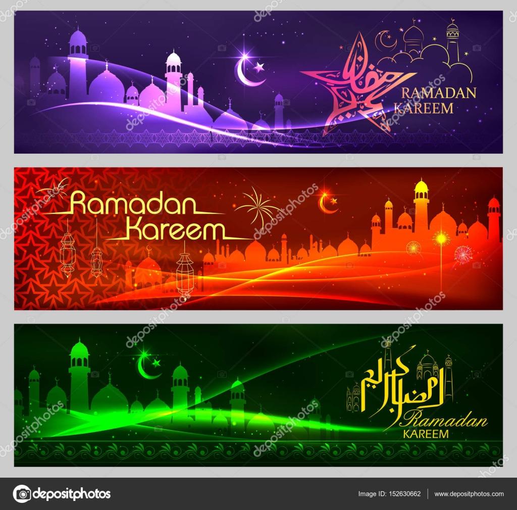 Banner-Vorlage für Eid mit Nachricht in Arabisch Urdu Meanig Ramadan ...
