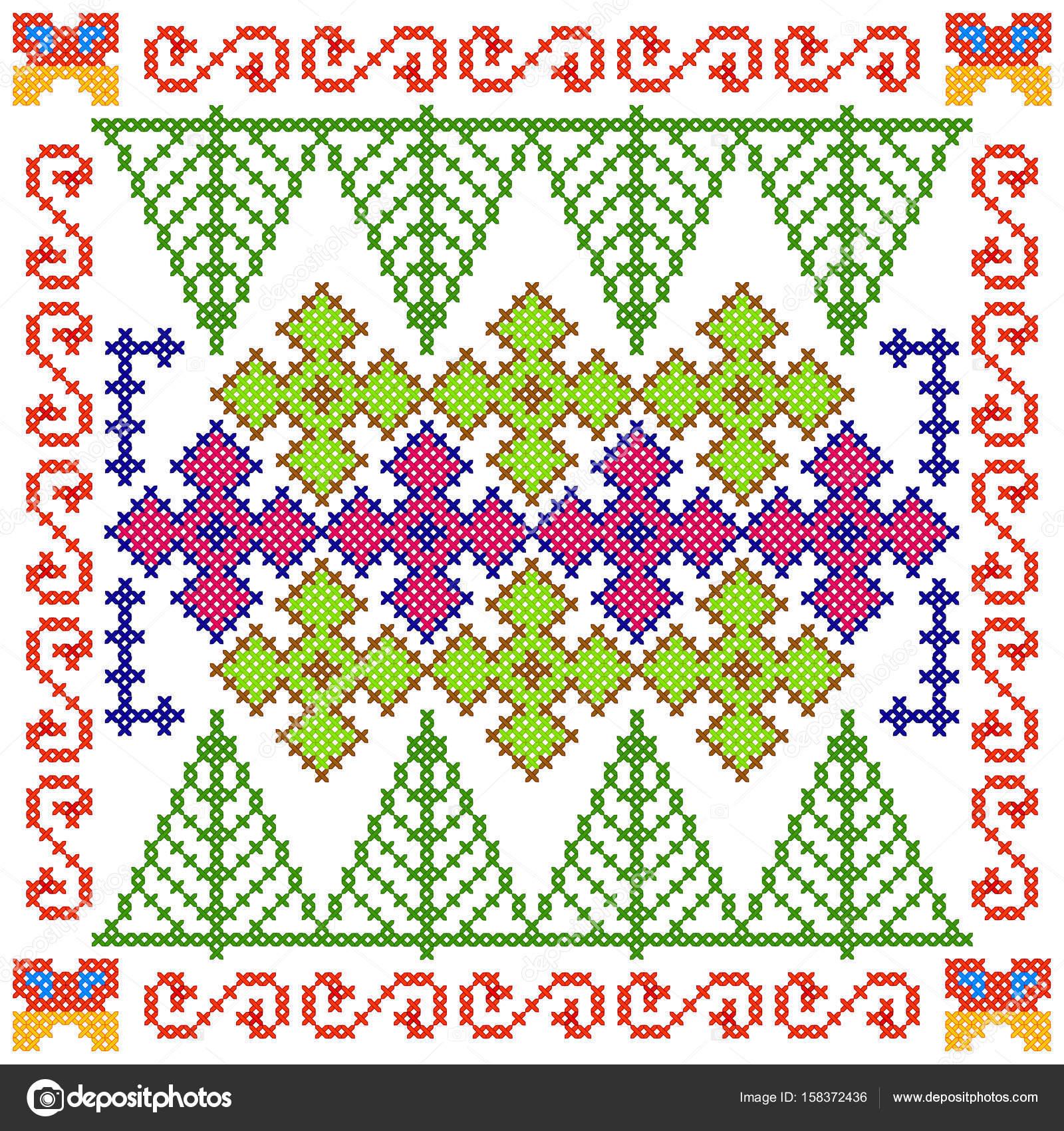 Cruz de diseño floral bordado de la puntada para textura de patrones ...
